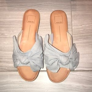 Dolce vita oversized bow slides slip on sandals